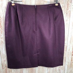 Fashion Bug Skirts - Purple wool pencil skirt sz 14 Fashion Bug